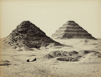 The Pyramids of Sakkarah, from the North East