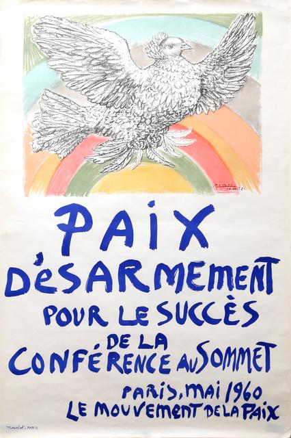 Pablo Picasso, 'Paix Desarmement pour le succes de la Conference au Sommet', 1960, RoGallery