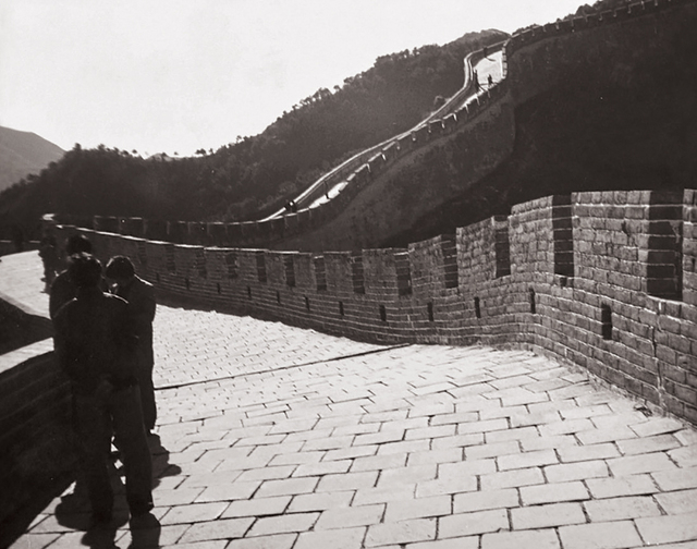 Andy Warhol, 'Seven works: (i) The Great Wall of China; (ii) Street Scene (Man and Car); (iii) Street Scene (Man with Bicycle); (iv) Two Young Men; (v) Group of Men; (vi) Waterfront Park; (vii) Young Boy', 1982, Photography, Seven gelatin silver prints, Phillips