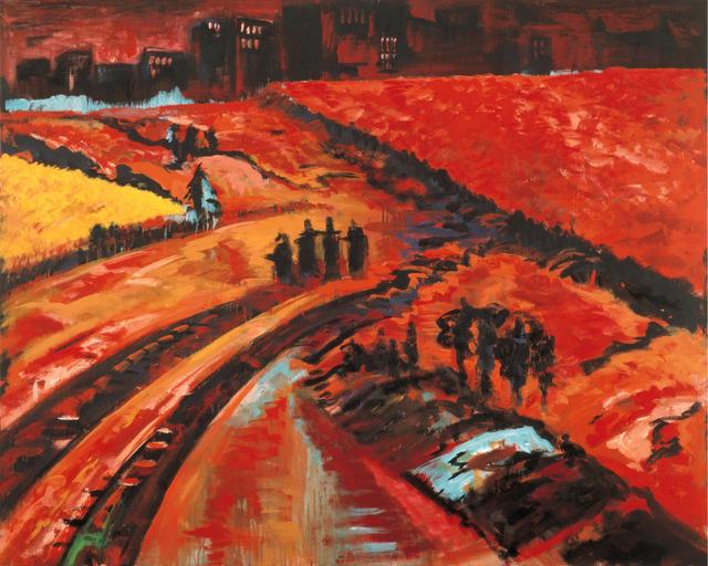 Bernd Zimmer, 'Vorstadt. Sonnenuntergang', 1986, Galerie Fetzer