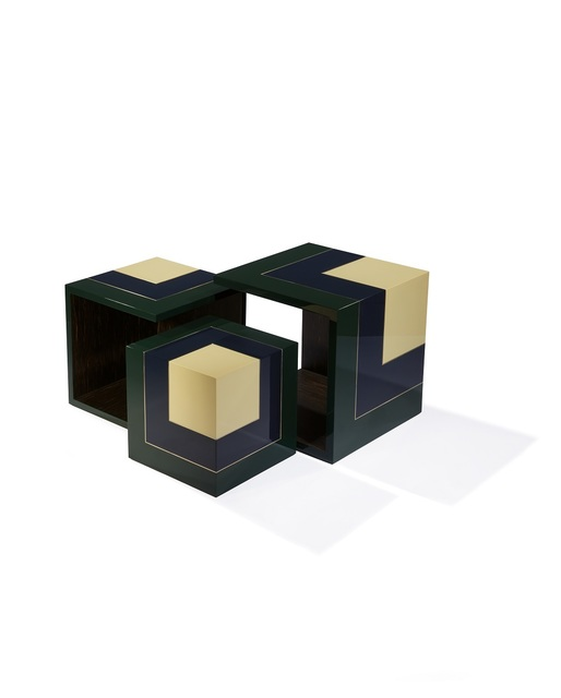 , 'Homage to the cube side tables (S, M, L),' 2016, Galerie Negropontes