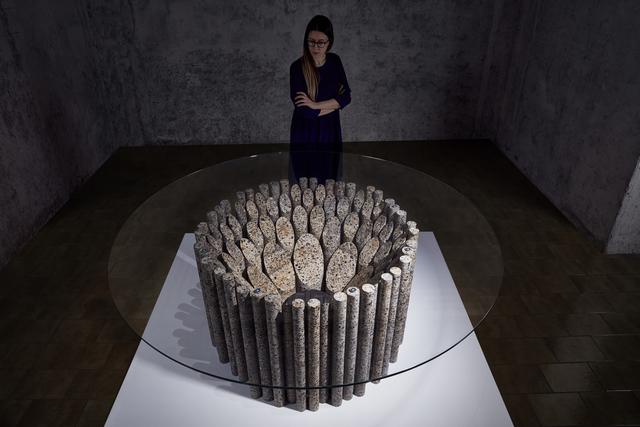 , 'Sliced Core Table,' 2017, Friedman Benda