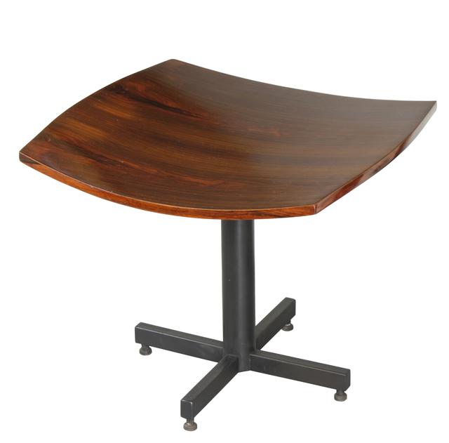 , 'stool in jacaranda and painted metal,' 1960', Legado Arte