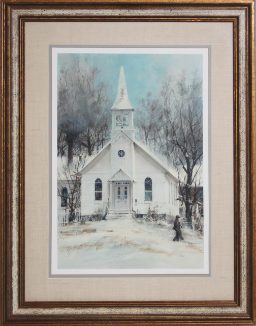John Berkey, 'White Church/Winter Scene, Winesburg, Ohio', 1979, EastCoastArt
