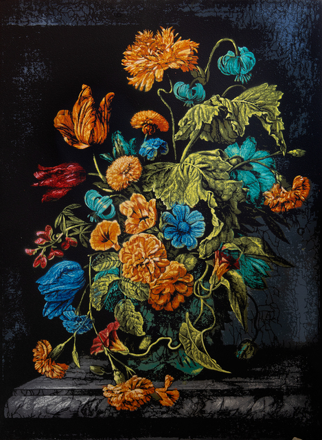 Logan Hicks, 'Still Life with Flowers - Homage to Rachel Ruysch', 2019, Taglialatella Galleries