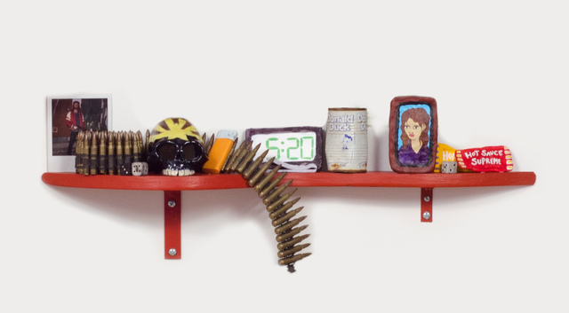 , 'Slow Down Ruby (Bullet Shelf),' 2014, Fleisher/Ollman