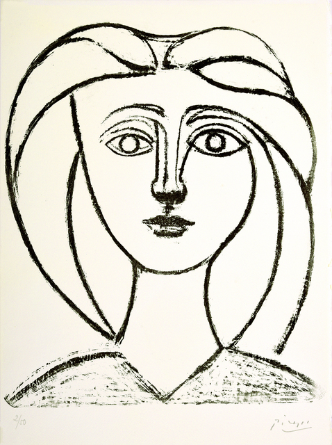 Pablo Picasso, 'Jeune fille aux grands cheveux', 1945, Odon Wagner Gallery