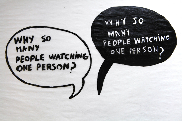 , 'Watching one person,' 2014, Barbara Gross