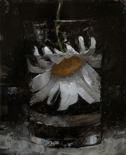 Tom Giesler, 'Floral 17: daisy', 2020, Painting, Oil on panel, McVarish Gallery
