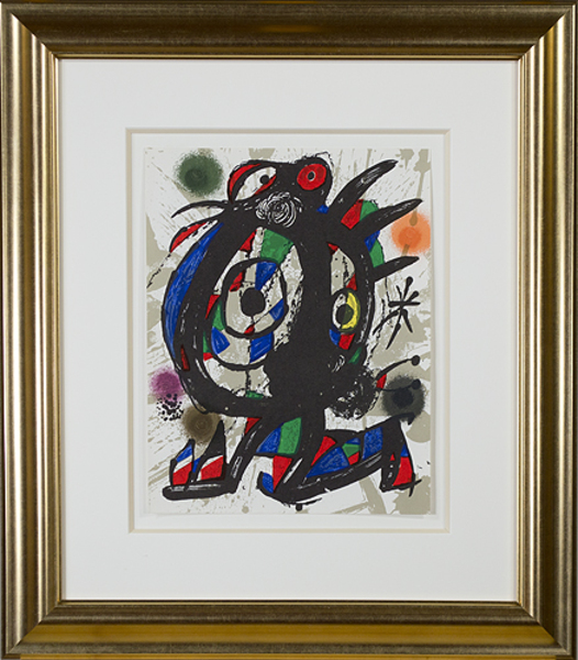 ", 'Original Lithograph I from ""Miro Lithographs III, Maeght Publisher"",' 1977, David Barnett Gallery"