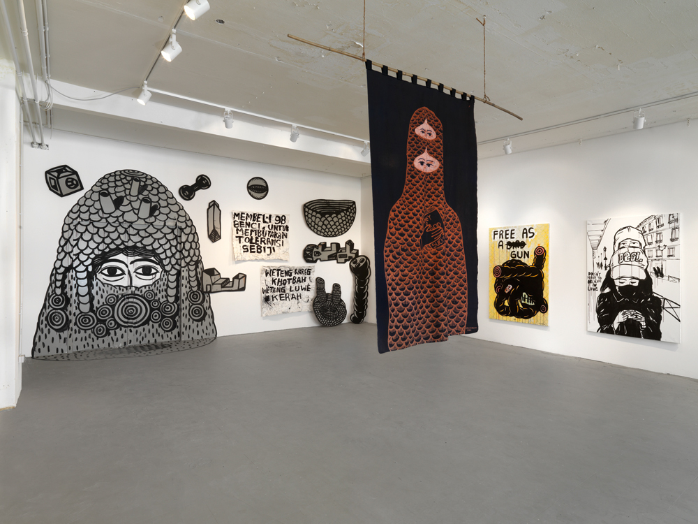 "Installation view. Eko Nugroho ""Flavour"", ARNDT, Berlin, Germany. April 28 - June 2, 2012. Photo: Bernd Borchardt"