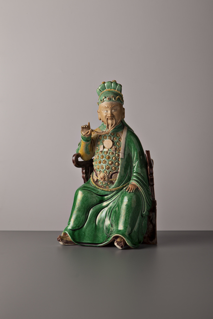 , 'Seated Guandi,' China, Kangxi period (1662, 1722) ca 1680, 90, Vanderven Oriental Art