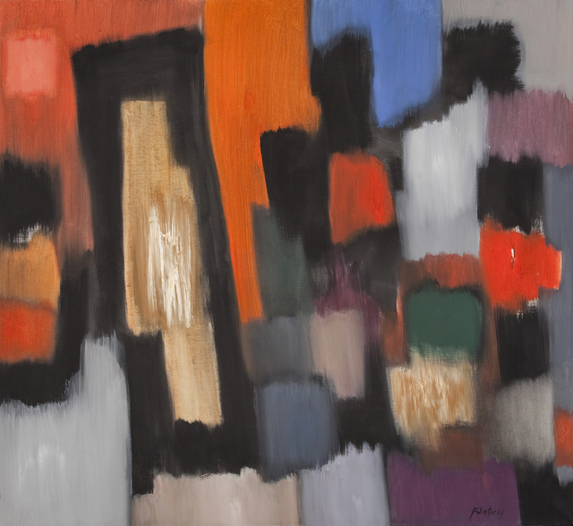 , 'Die roten Felder,' 1961, Galerie Utermann