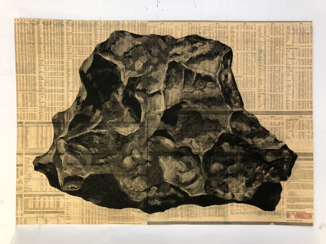 , 'Large Rock (Meteor Series),' 2019, The Drawing Works