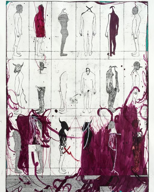 , 'Lost Men Study A,' 2018, Galerie Kornfeld