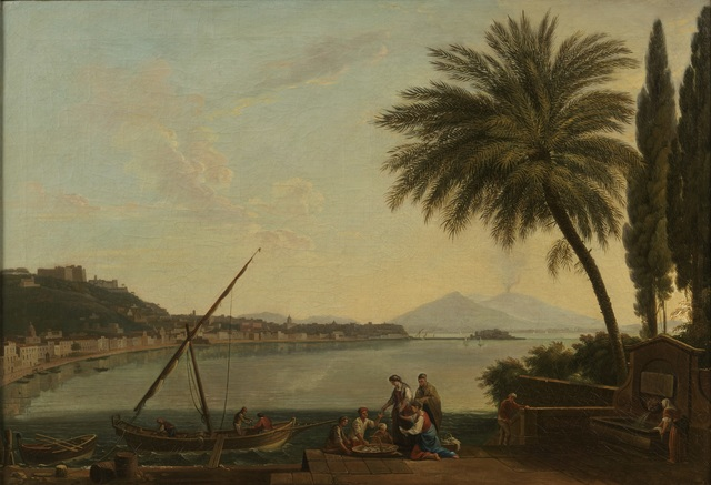 , 'The Bay of Naples from the Strada di Posillipo looking east, with fishermen selling their catch in the foreground,' 1756, DICKINSON