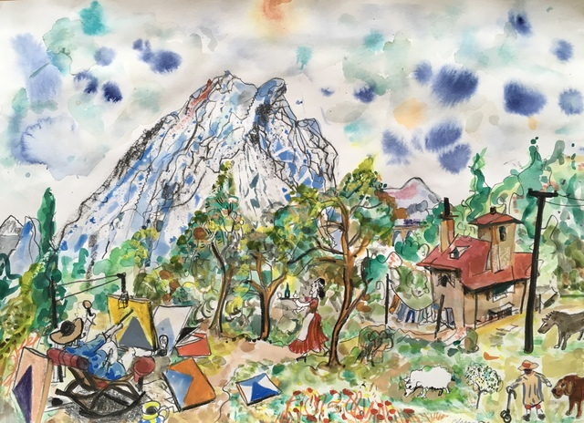 , 'Cezanne Paints Mount St Victoire No 1,' 2018, Jill George Gallery