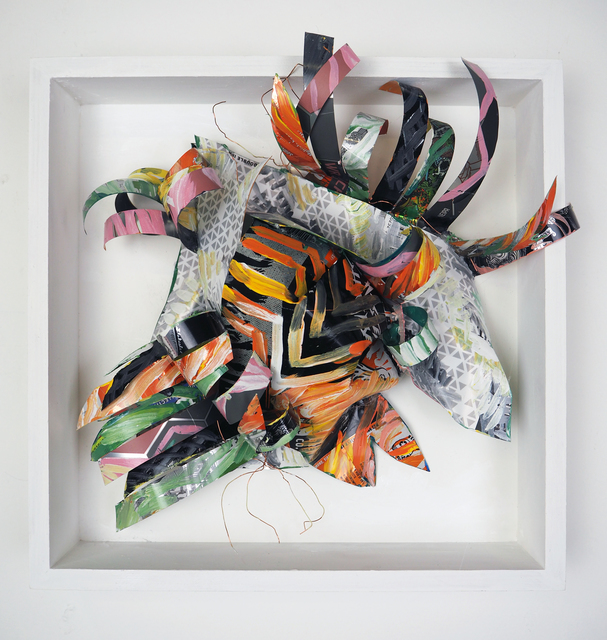 Christina Massey, 'Artisanal M', 2017, Sculpture, Acrylic and enamel on paper, fabric, repurposed aluminum and wire, The Untitled Space