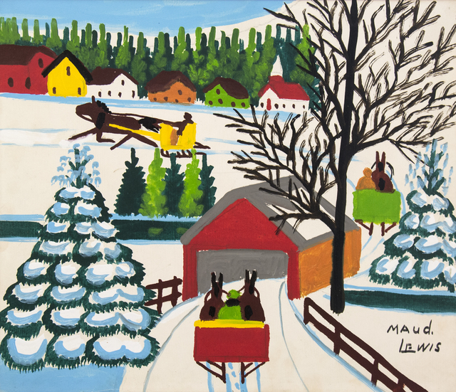 , 'Covered Bridge in Winter,' , Oeno Gallery
