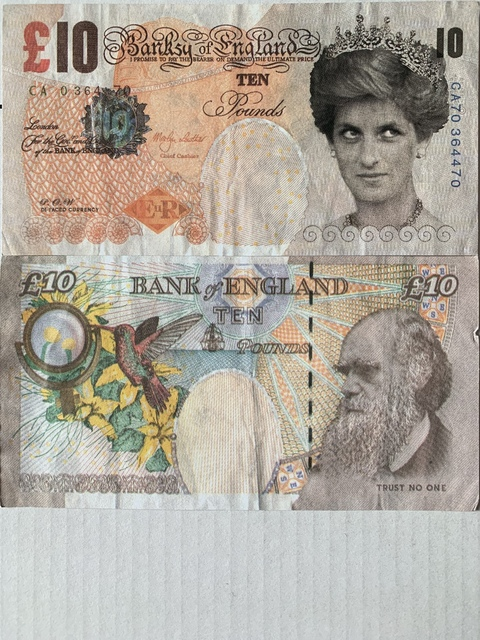 Banksy, 'GENUINE, BANKSY DI-FACED TENNERS 2X FOR SALE', 2004, Arts Limited