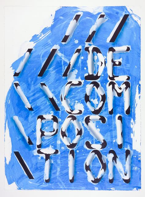 , 'DECOMPOSITION,' 2017, Galerie Krinzinger