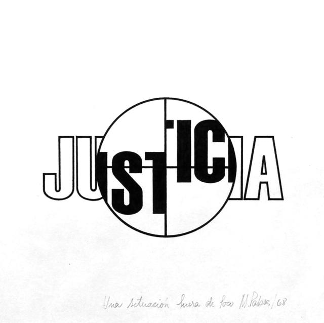 , 'Justicia. de la serie Fuera de foco,' 1968, Document Art
