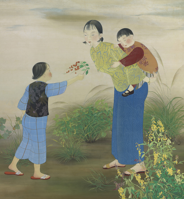 , 'Out in the Fields,' 1934, Taipei Fine Arts Museum