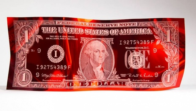 , 'One Dollar Engraved - Red,' , Art Angels