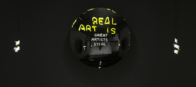 , 'Great Artists Steal / Real Art Is,' 2016, Maddox Arts