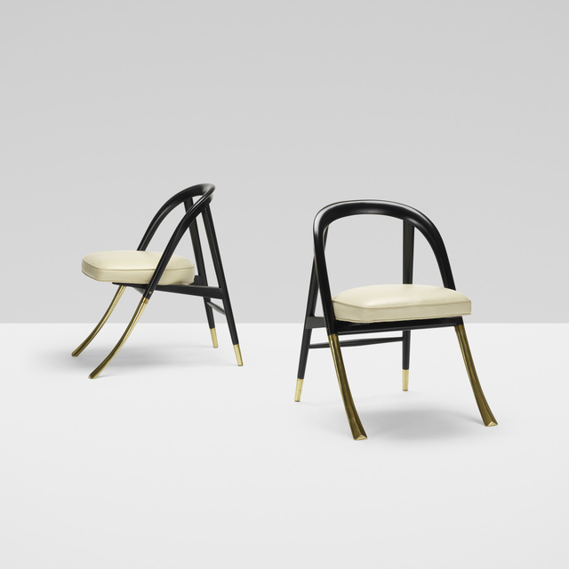 Edward Wormley, 'A Chairs Model 5481, Pair', 1954, Wright