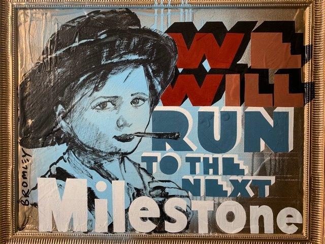 David Bromley, 'We will run to the next milestone ', 2019, Gallery One Australia