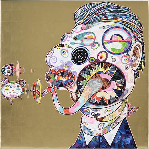 Takashi Murakami, 'Homage to Francis Bacon, Study for Head of George Dyer', 2016, Vogtle Contemporary