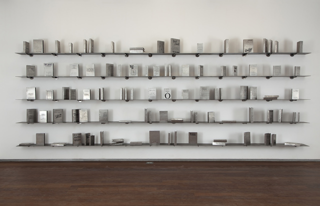 , 'Someone Else- A Library of 100 books written anonymously or under pseudonyms,' 2011, The Gujral Foundation