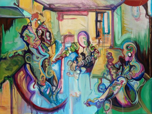 Lee Kay-Barry, 'Plaza José María Orense', 2017, Painting, Oil on canvas, Eclectic Gallery