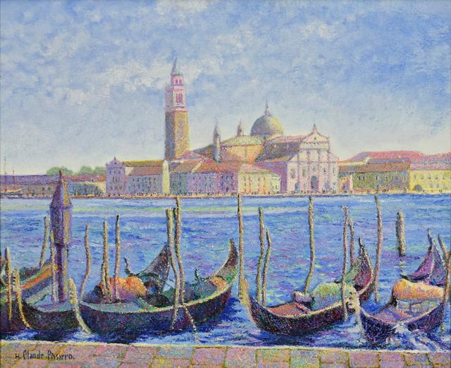 Hugues Claude Pissarro, 'Les Gondoles de Frères Capriani (Venise)', 21st century, Stern Pissarro