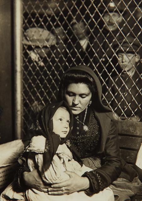 Lewis Wickes Hine, 'Italian Mother and Child, Ellis Island', 1905, Photography, Gelatin silver print, probably printed after 1917., Phillips