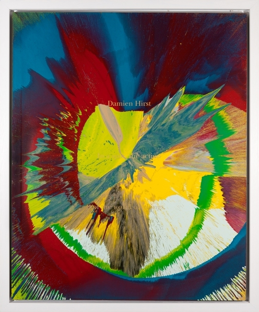 , 'Spin Painting: Cut by Blue (DHS 663 145 (L)),' 2002, Galerie Ernst Hilger