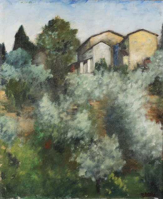 Ottone Rosai, 'Collina d'ulivi', 1922, Painting, Oil on canvas, Il Ponte