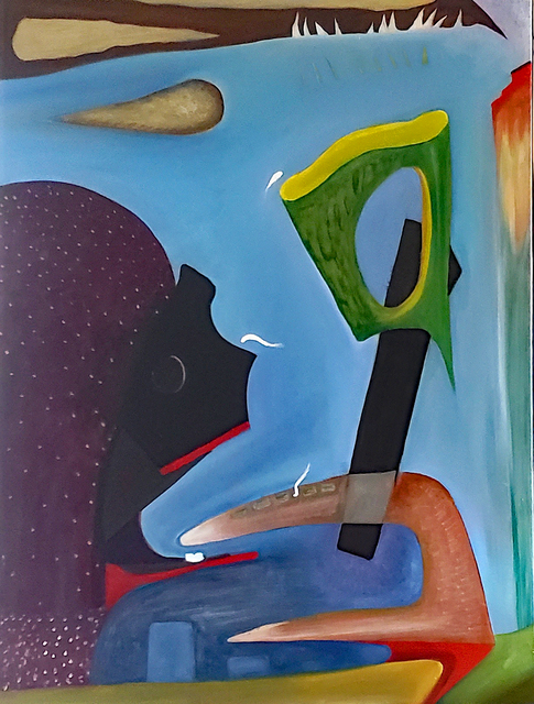 Robert Zurer, 'Let Them Eat Oxy', 2019, Painting, Oil on canvas, InLiquid