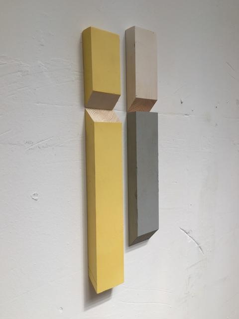 Luis Romero, ' Matche (Blanco/Amarillo/Gris)', 2019, Maddox Arts