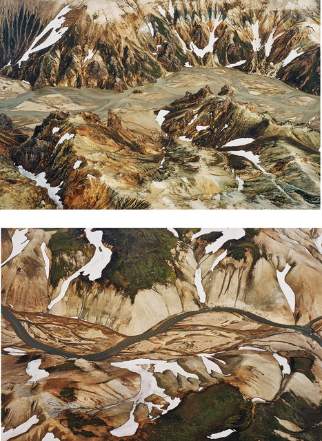 Olafur Eliasson, 'Jökulsgilskvisl (Glacier Canyon Fork), from Double Exposure', 2003, Photography, The complete set of two chromogenic prints, on photo paper flush-mounted to Forex board (as issued), the full sheets., Phillips