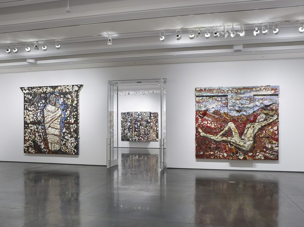 Installation view: Julian Schnabel Plate Paintings 1978-86, Aspen Art Museum, 2016 .Photo: Tony Prikryl