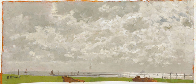 , 'Am Elbufer,' ca. 1900, Galerie Herold