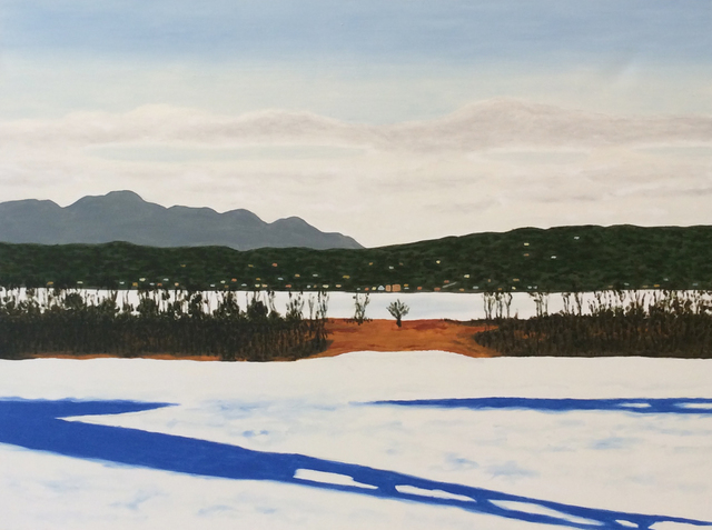 , 'Athens from Hudson in Winter,' 2000, Carrie Haddad Gallery