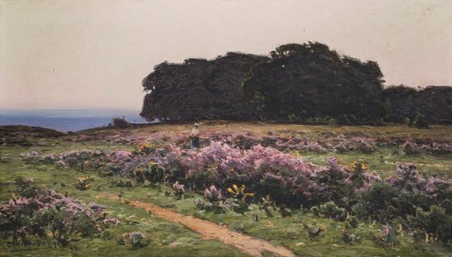 William Didier-Pouget, 'La cueillette de bruyères dans les Landes', 1893, Leclere