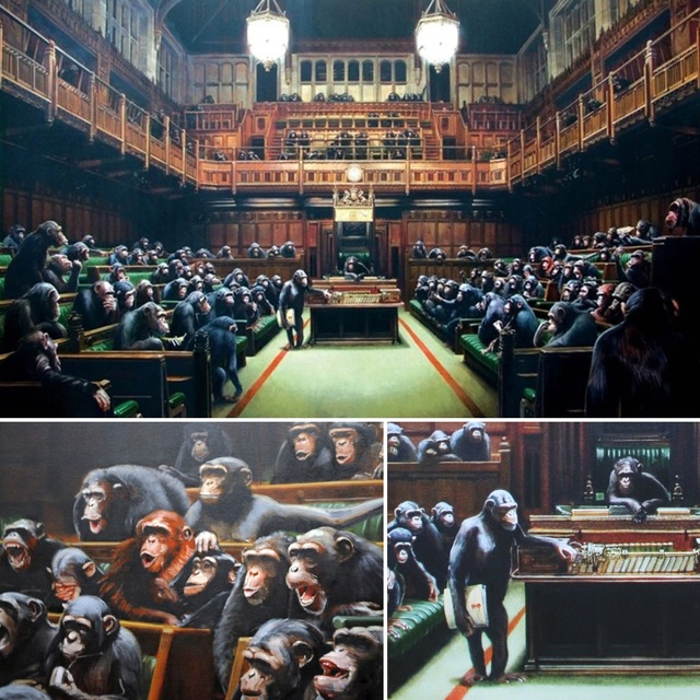 Banksy, 'Monkey Parliament', 2009, Lougher Contemporary