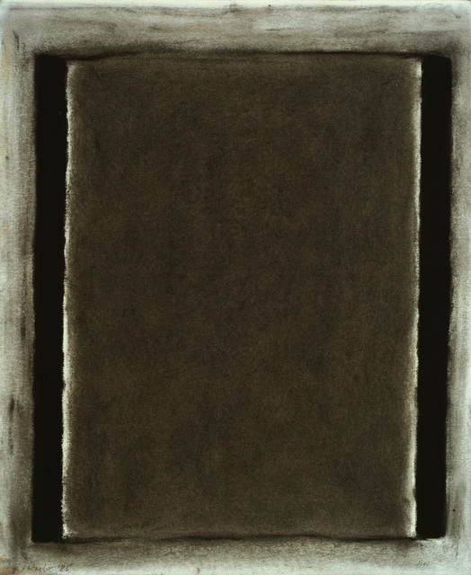 , 'Finger Drawing with Soot,' 1988, ZAK BRANICKA
