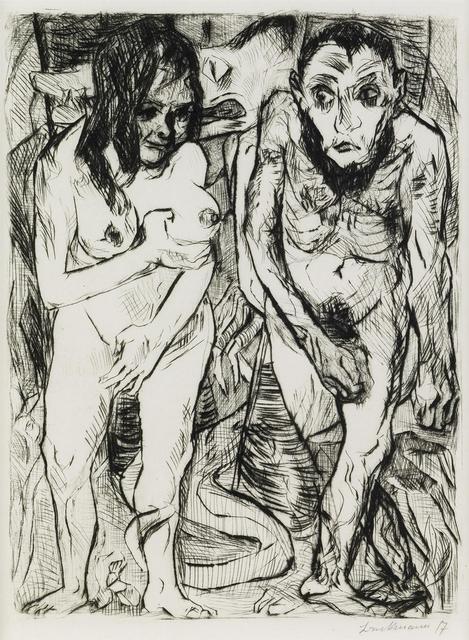 Max Beckmann, 'Adam and Eve', 1917, Harris Schrank Fine Prints