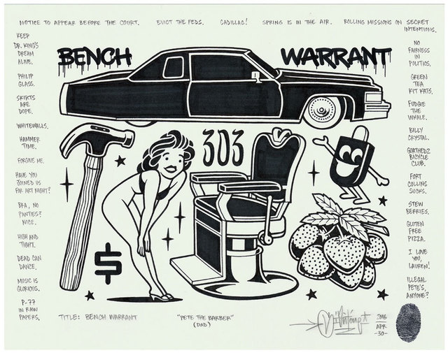 , 'Bench Warrant,' 2016, Black Book Gallery
