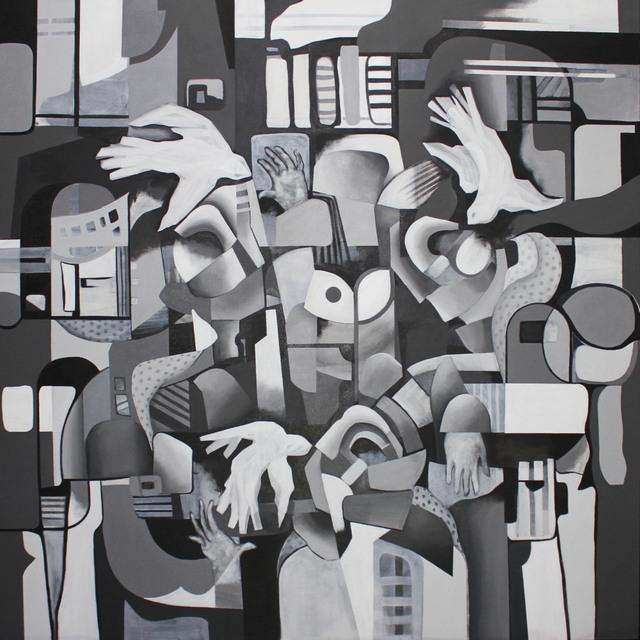 , 'Meeting on a Street,' , Art Acacia